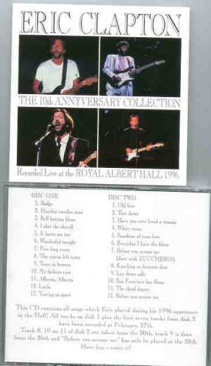 Eric Clapton - 10th Anniversary Collection ( 1996 Live at the Hall ) ( 2 CD set )