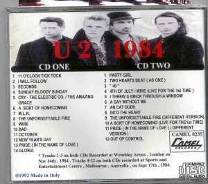 U2 - 1984 ( 2 CD!!!!! set )( Live in Wembley Nov 14th , 1984 & Melbourne , September 17th , 1984 ) Picture