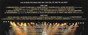 Ringo Starr - 70th Birthday Celebration ( 2 CD!!!!! SET ) ( Radio City Hall , NYC , USA , July 7th , 2010 )
