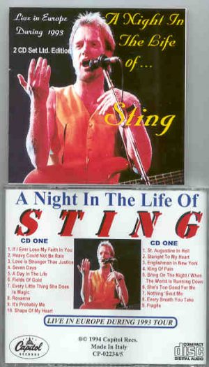 Sting / The Police - A Night In The Life Of STING ( Live In Europe During The 1993 Tour ) ( 2 CD!!!!! Set )