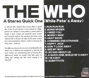 The Who - A Stereo Quick One ( While Pete's Away )