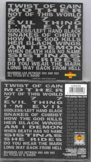 Danzig - Black Box ( Living Legend ) ( Live 1989 - 1993 )