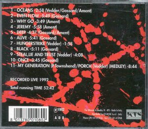 Pearl Jam - 5 Alive ( KTS ) ( Recorded Live During the 1992 Tour )
