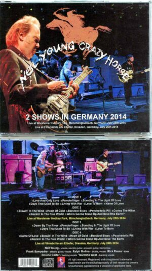 Neil Young - 2 Shows In Germany 2014 (4 CD SET ) ( Monchengladbach , Germany July 25th & Dresden , Germany July 26th , 2014 )