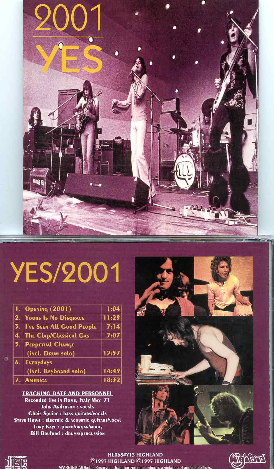2001( Highland ) ( Recorded Live In Rome, Italy, May 1971 )