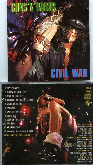 Civil War ( 70 minutes, 12 Unreleased Soundboard Live Tracks 1987 - 1990 )