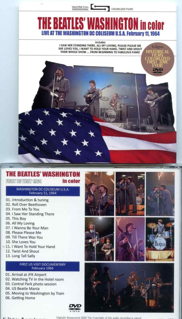 Washington In Color DVD ( Misterclaudel / Valkyrie )( Live at The Washington DC Coliseum, February 11th, 1964 )